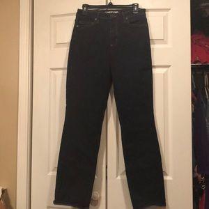 Lands End sz 12 women's curvy straight leg jeans